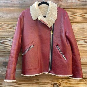 Sandro Jackets & Coats - Sandro Leather / Sherpa Jacket